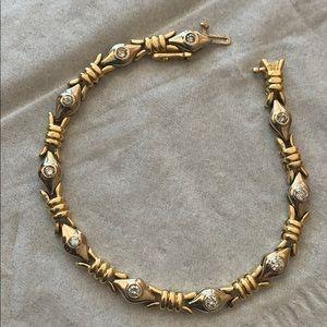 Diamond bracelet 14kt gold